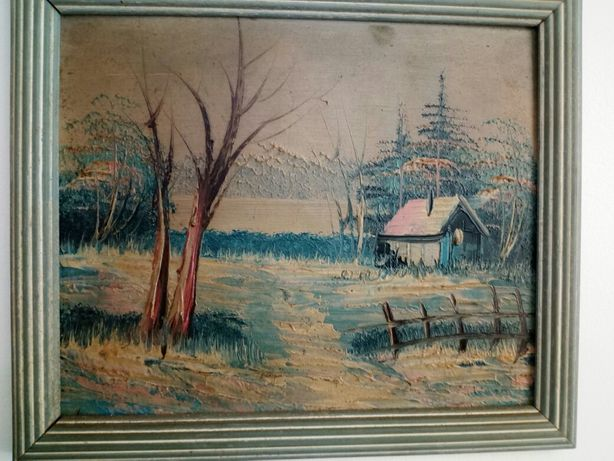 Tablou  pictura pe placaj .24cm /20cm fara rama .27 cm/ 23cm cu rama