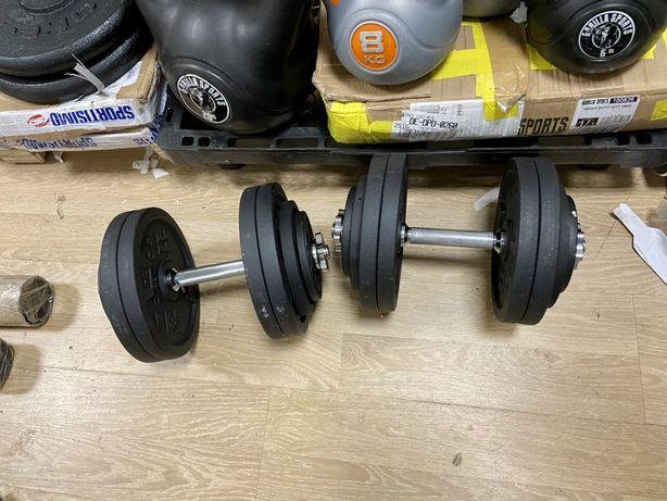 Gantere reglabile profesionale noi cu filet 56 kg. 28+28=56 kg, noi.
