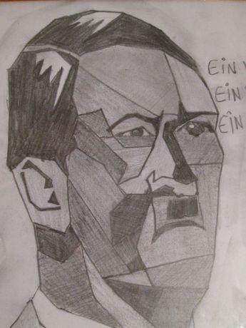 """Reducere Tablou """"Adolf Hitler"""" fuhrer ein volk ein reich creion ,desen"""