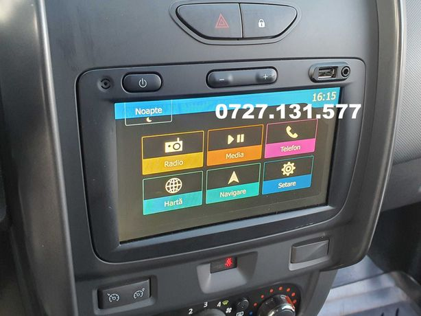 Navigatie  Dacia + Montaj inclus  camera video marcharier Duster Logan