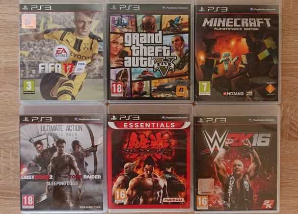 < PS3 > FIFA 17 / GTA 5 / MINECRAFT / Tekken / WWE за PlayStation 3