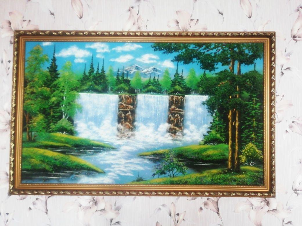 Картины с Урала (уральские самоцветы)