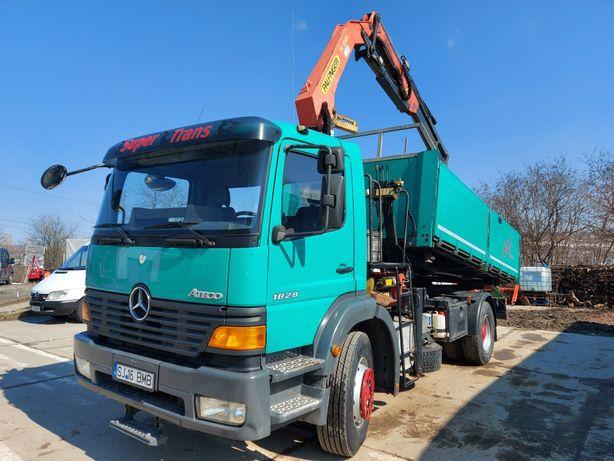 Transport basculabil 7.5t(4mc) / 18t basculabil + macara