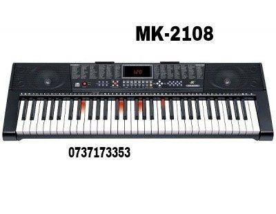 Orga electronica MK-2108, 61 clape cu led-uri, USB, 5octave