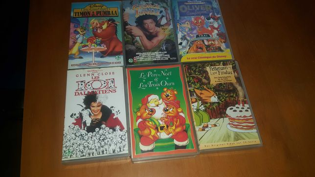 Casete video cu desene animate in limba franceza