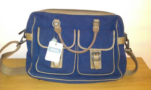 Fossil-Top Zip Workbag- Чанта