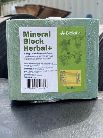Минеральный солевой блок из измельченной соли для лошадей, КРС / 5 кг.