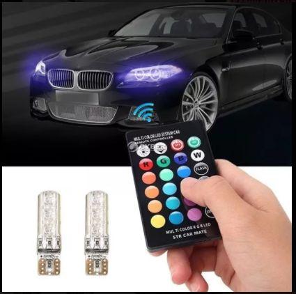 RGB LED крушки с дистанционно управление за автомобил
