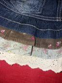 Дънково сукманче ,пола,пухкаво елече и клинче за момиченце до 104см