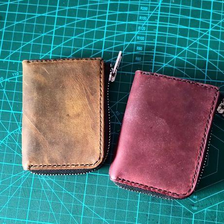 Мини-кошелек натуральная кожа. Ручная работа