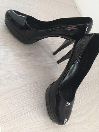 Pantofi Denis (All Shoes) negri, piele lacuita, mar 39