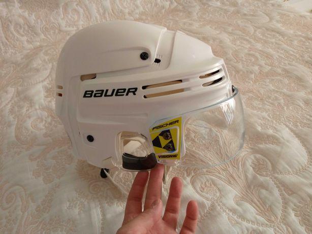 Хоккейный шлем Bauer белый