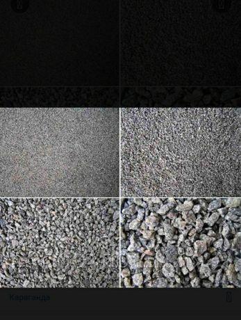 Щебень, отсев, песок, балласт, скальник