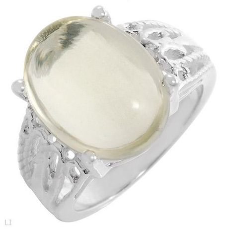 Дамски сребърен пръстен с естествен кварц