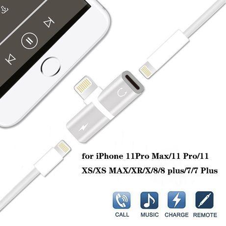 Преходник,сплитер,донгъл за слушалки за IPhone 7plus,8,XS,XR,11Pro,12