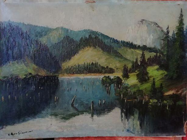 Lacul Roșu, tablou de Constantin Rachiescu - Bacau