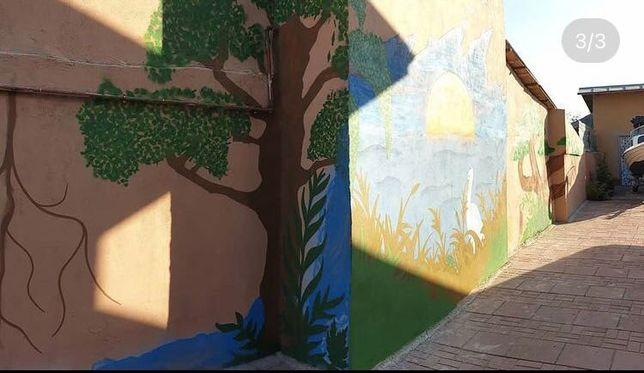 Arta murala, graffiti, desen, spray, Pictura murala