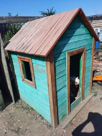 Балаларға арналған үй.  Домик детский деревянный