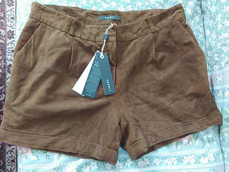 ЕSPRIT -ест.кожа къси панталонки и бели с коланче № 36