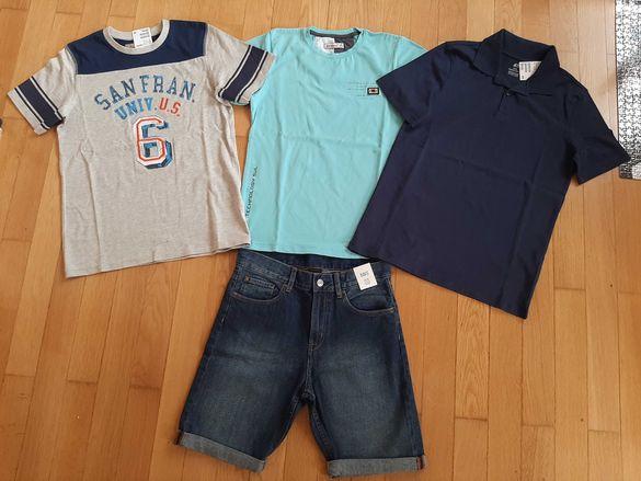 Къс панталон H&M, блузки H&M,лятно яке Kipsta, за 12г.момче.НОВИ!