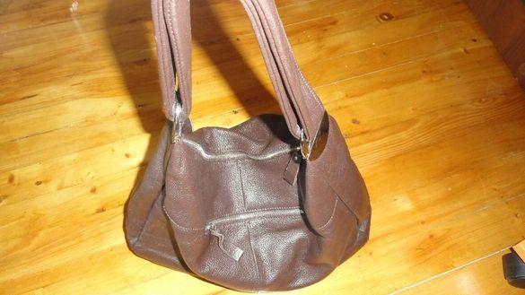 чанта тъмнокафява ест. кожа
