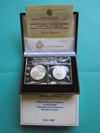 Seturi monede argint, San Marino - 1984 si 1986 - 1992, FDC