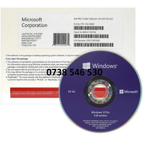DVD original cu sticker Windows 10 Pro cu licenta RETAIL, sigilat!