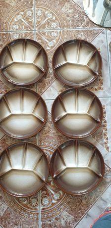 Farfurii fondue vintage solid