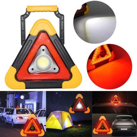 Соларен LED мощен, авариен, презаредим фенер с 5 режима