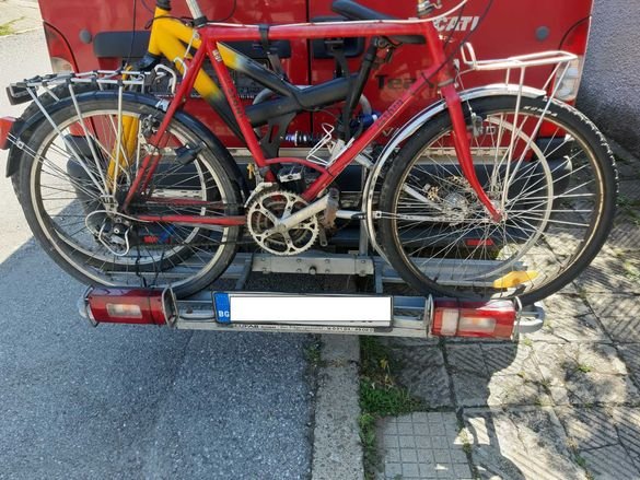 Багажник за велосипед за теглич