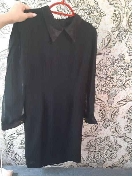 Платье черное прямое