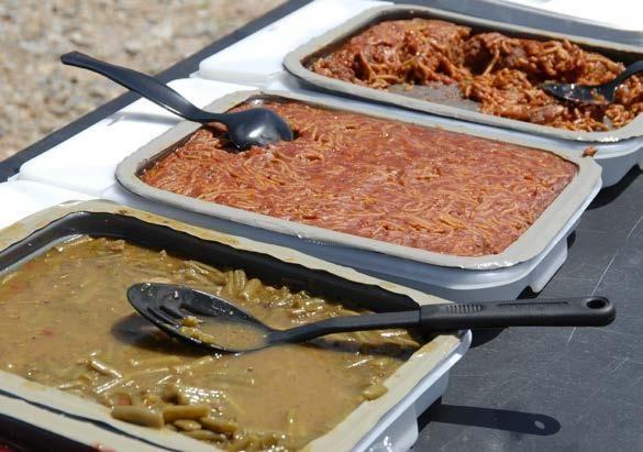 MRE-uri americane, Tăvi chiftele cu spaghete, orez, desert mere