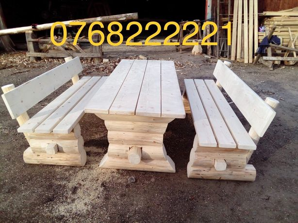 Masa rustica din lemn / masa din lemn rotund