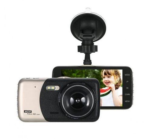 Видеорегистратор/камера KKMOON FULL HD за автомобил, с 2 камери