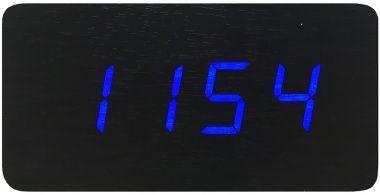Ceas Electronic Cu Termometru, Afisaj Cu LED-Uri, Albastru