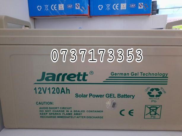 JARRETT baterie solara 12V-120Ah acumulator cu gel lot an 2021