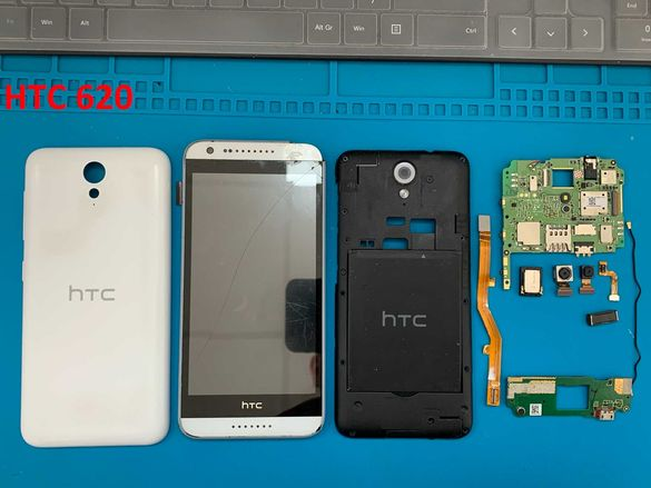 HTC Desire 530 на части; HTC Desire 620 на части; HTC One M8 на части