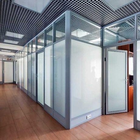 Офисные алюминиевые стеклянные ПВХ перегородки Входные группы Двери