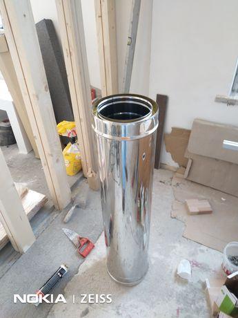 Element coș de fum inox izolat cu diametrul de 180 mm