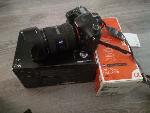 Камера Sony SLT-A99 + объектив  Sony Zeiss 24-70 2.8 ZA