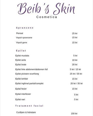 Servicii cosmetica sector 6