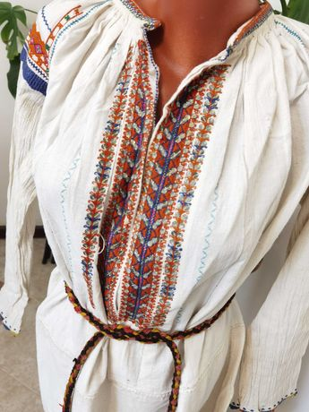 Автентична Хърцойска Старинна 30те г. Рокля Риза от Народна Носия
