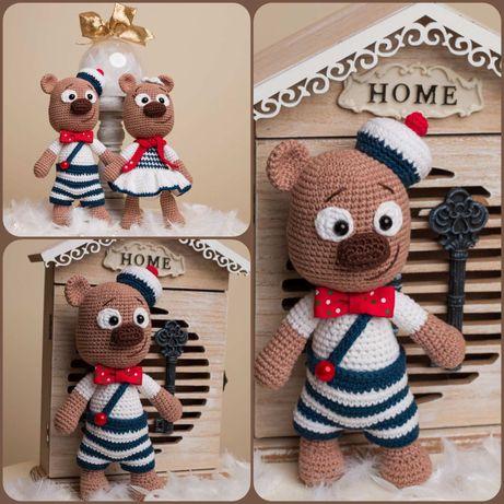Плетени играчки на една кука-Меченца