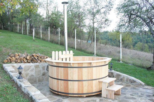 Целогодишно външно дървено джакузи за вашия двор и градина