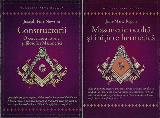 Set 2 carti Francmasonerie Istoria si filosofia & masonerie oculta