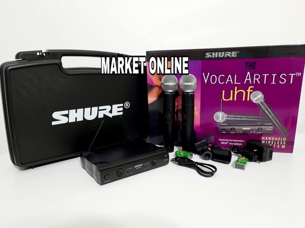 Microfon set wireless Karaoke,DJ Shure SM 58,case/valiza Shure