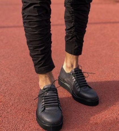 Shoes piele naturala interior si exterior, negru perlat