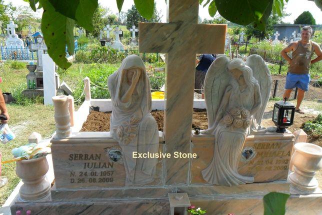 Monumente Funerare, cruci marmura granit, placari, montaj, garantie