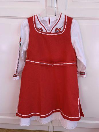 Детски фолклорен комплект (сукман + риза с народни мотиви) - НОВИ