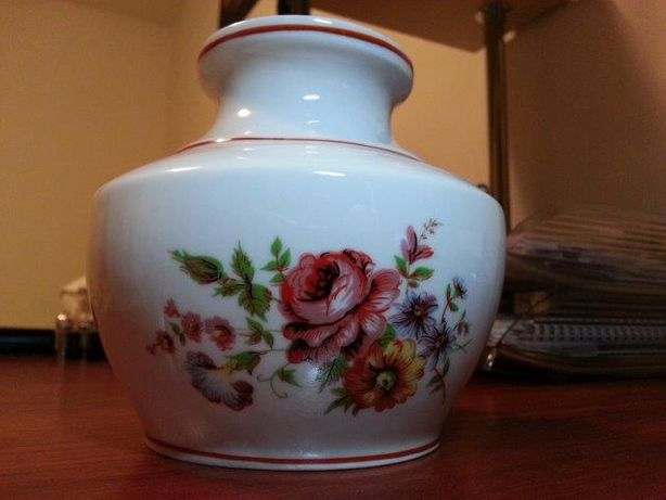 Vaza florala bibelou veche pictata manual deosebita antichitate stanta